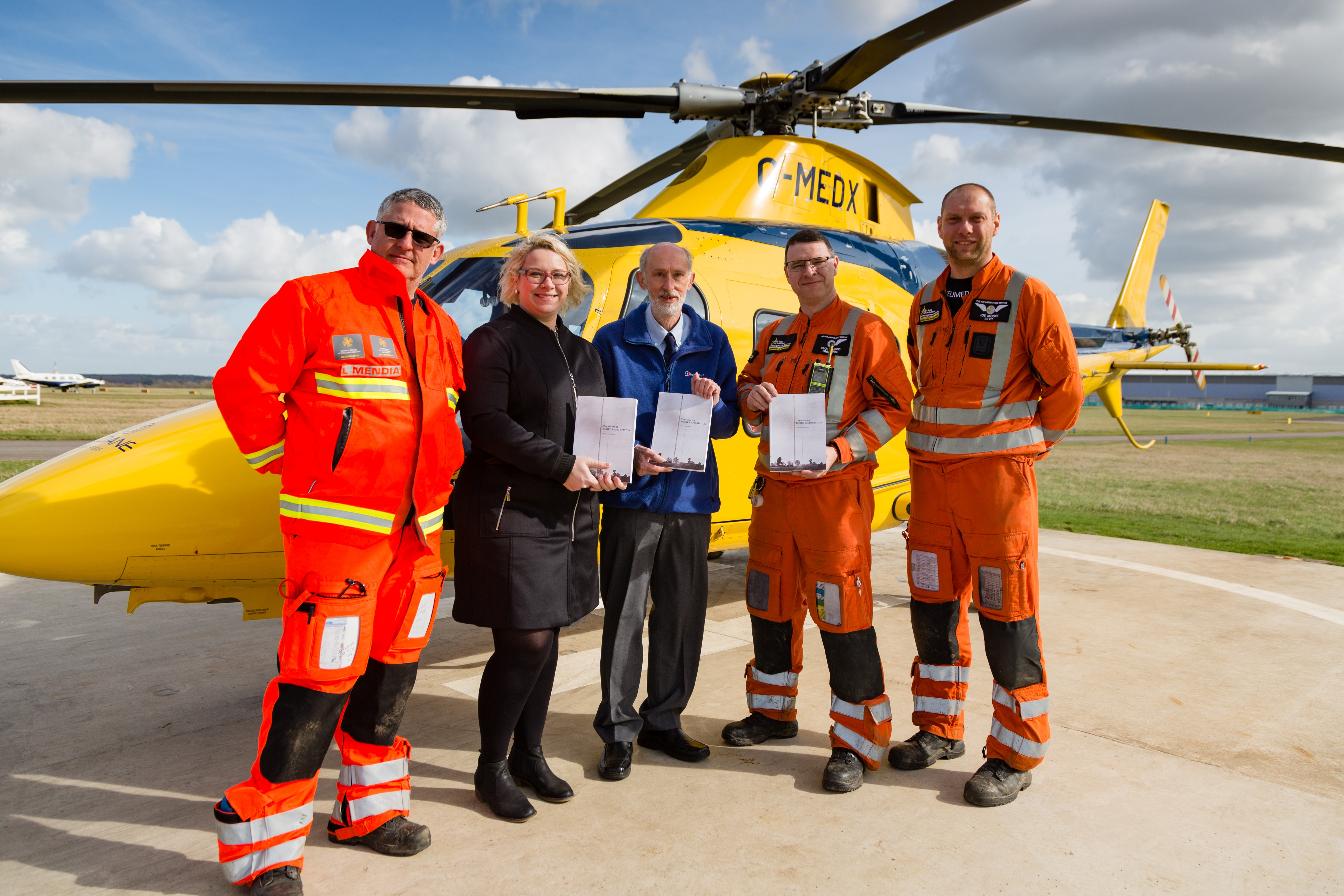 Book sales soar in support of Air Ambulance as the past gives life to the present